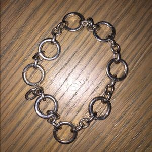 Tiffany 925 Circle Link Clasping Bracelet Rare